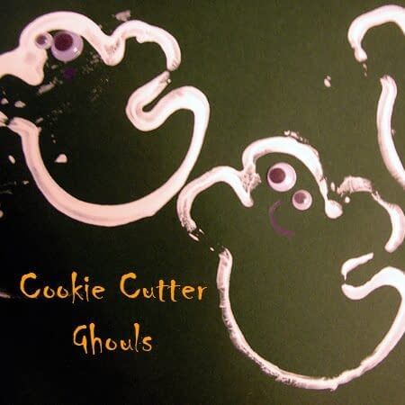 Cookie Cutter Ghouls - crafts for halloween toddler