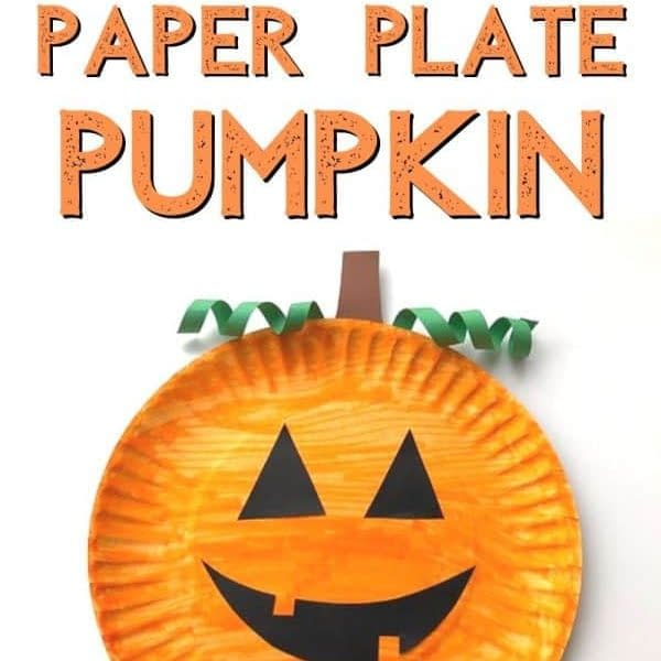 Paper plate pumpkin - crafts for toddler halloween