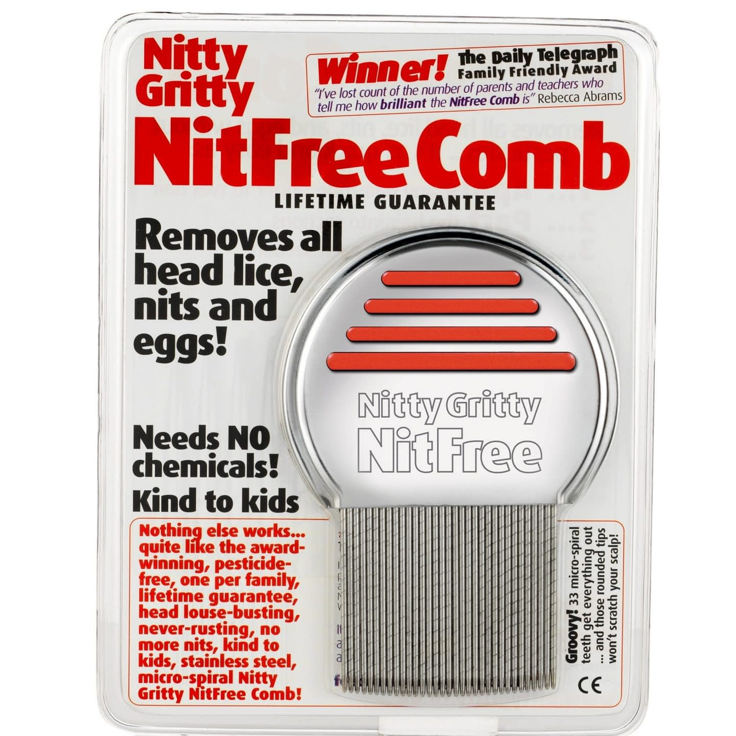NittyGritty NitFree Comb for removing head lice and nits