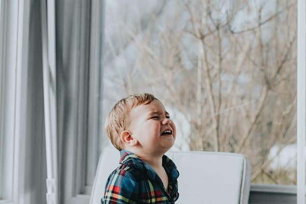 Toddler crying having a tantrum