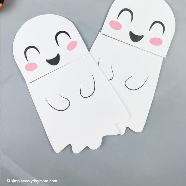 Paper Ghosts - toddler halloween craft ideas