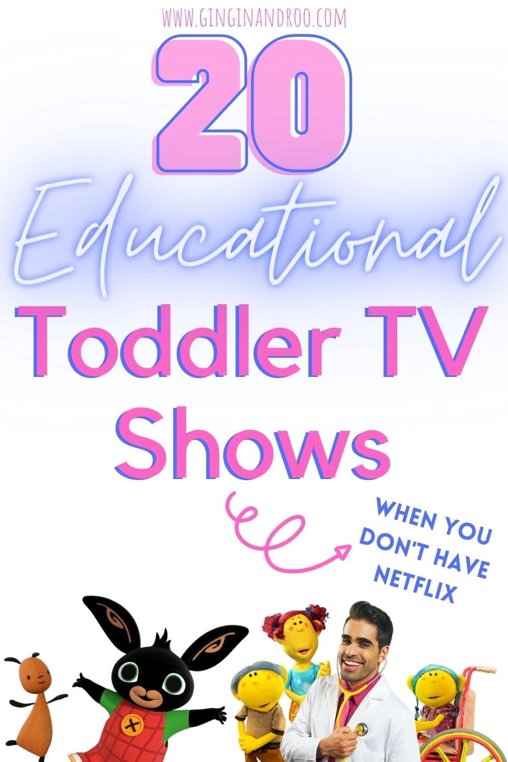 Don't have Netflix but want great toddler TV shows? Here's 20 brilliant toddler TV shows that will help with your child's learning and development for free. #toddlertips #toddlerTVshows #toddlerparenting