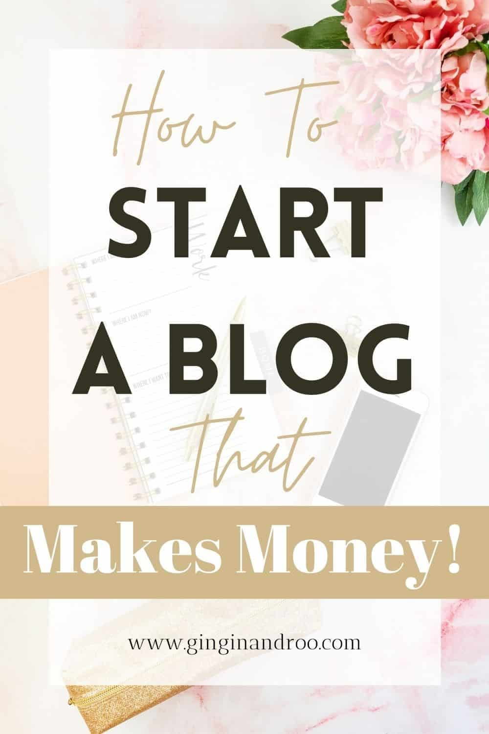 How to Start a Blog that Makes Money. Blogging Advice for Beginner Bloggers by GinGin and Roo