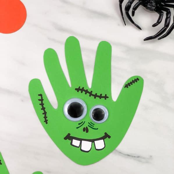 zombie handprint - toddler craft idea halloween