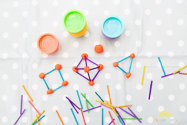 Making Matchstick Shapes. A fun maths activity from GinGin & Roo