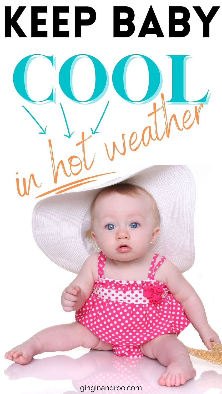 How to Keep Baby Cool in Summer - image of a baby with a cartoon sunshine
