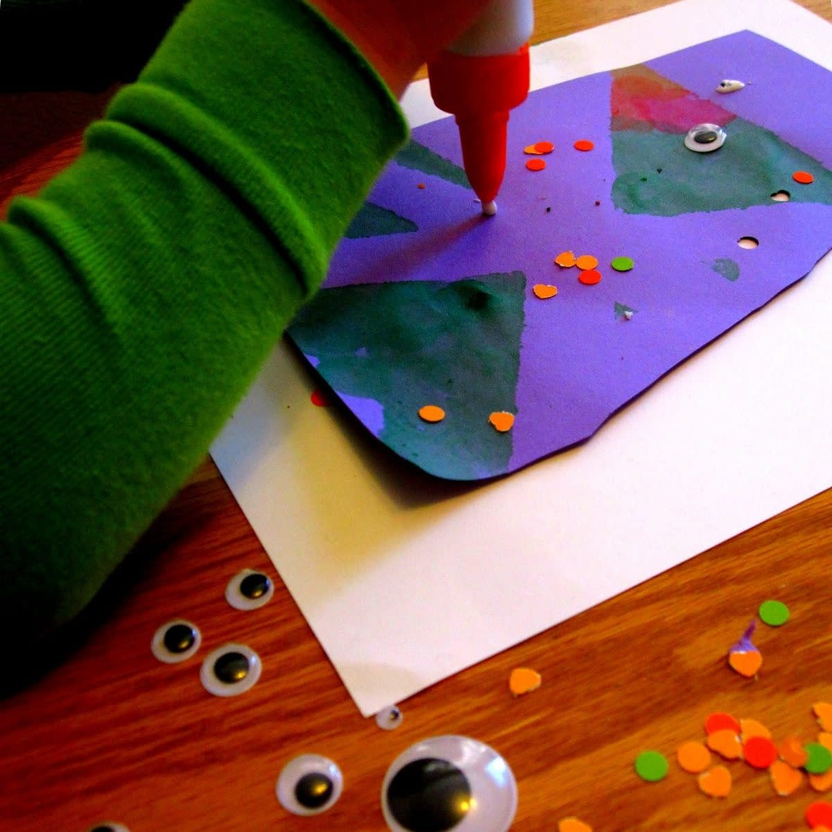 Purple People Eater - crafts for toddler Halloween - toddler approved