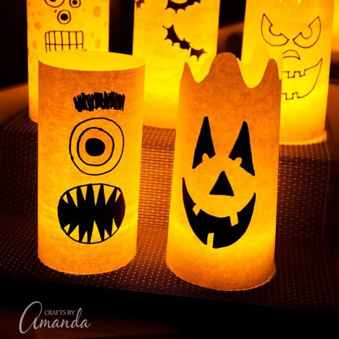 Halloween lanterns - halloween craft ideas