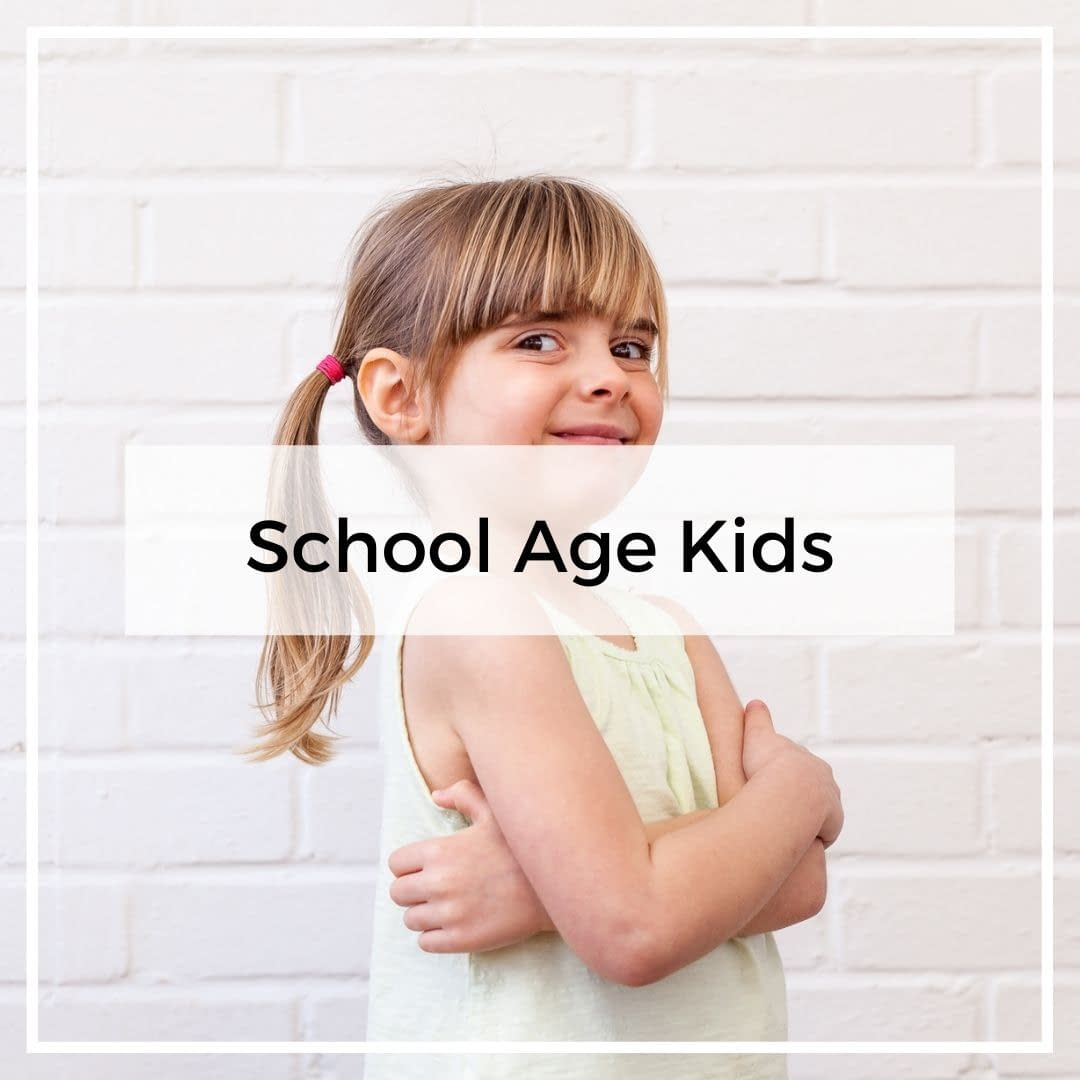 School Age Girl - School Age Kids Category Cover Image for the GinGin and Roo blog.