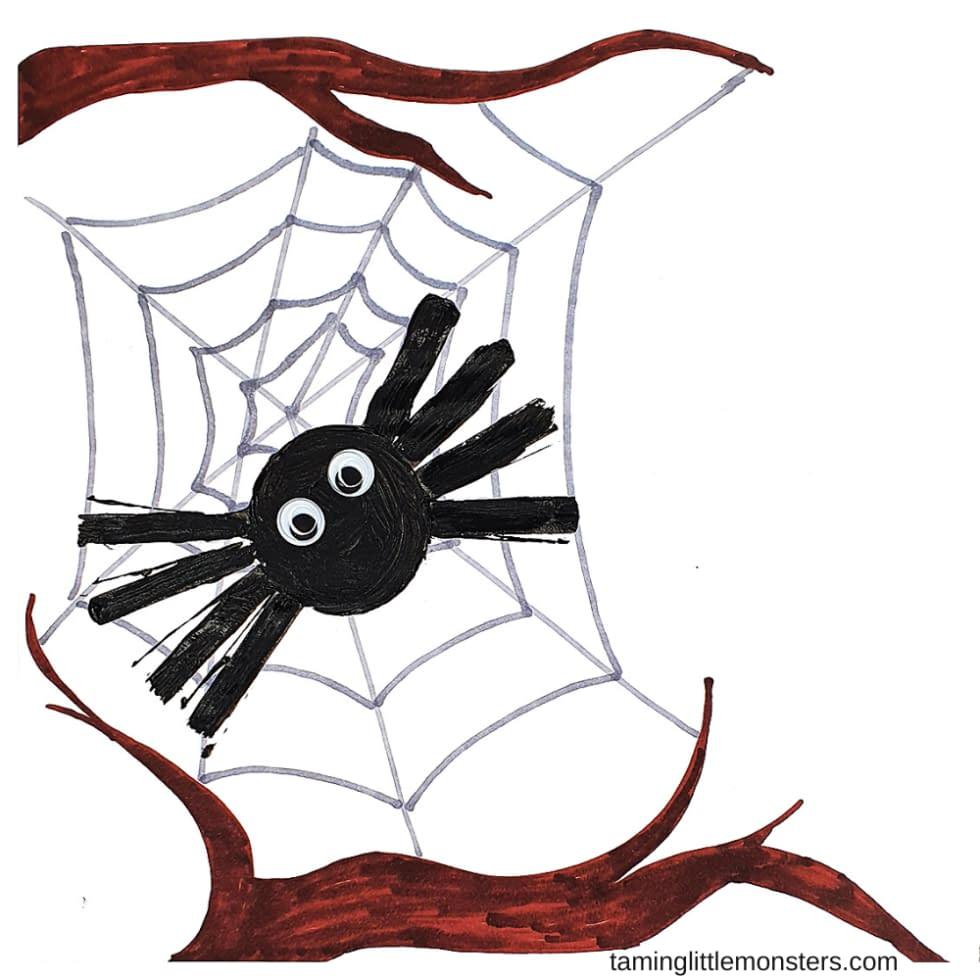 Spider Stamp - toddler craft ideas Halloween