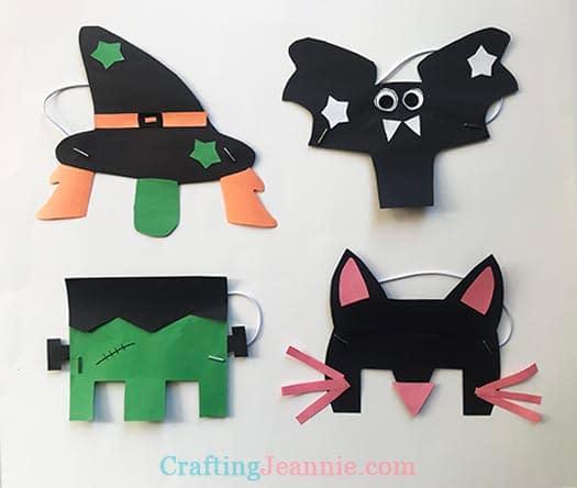Halloween Masks - Crafts for toddler halloween