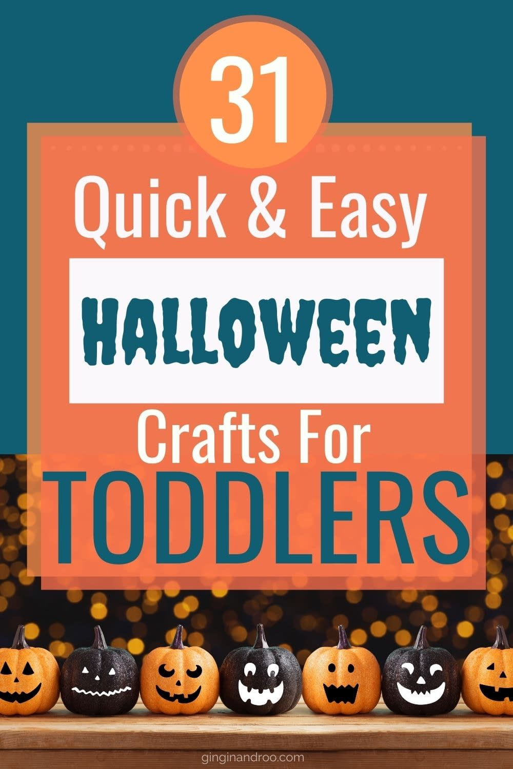 31 quick and easy halloween crafts for toddlers and preschoolers