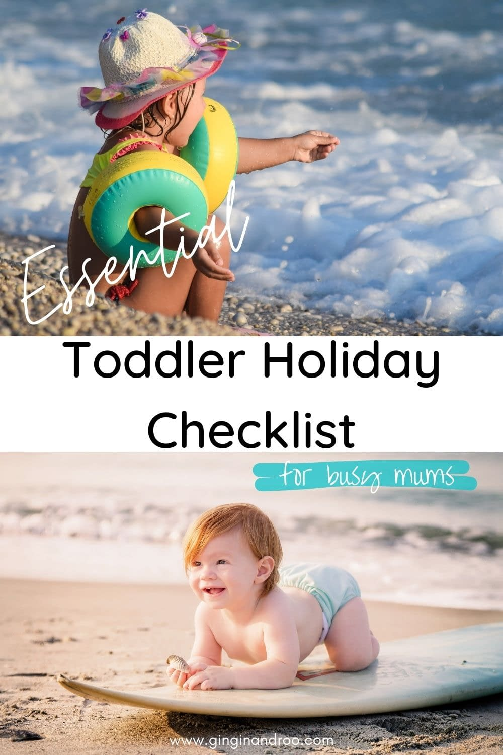 Toddler Holiday: An Essential Packing List For Busy Mums by GinGin & Roo #toddlerholiday #toddlerparenting #toddlertips #toddlervacation