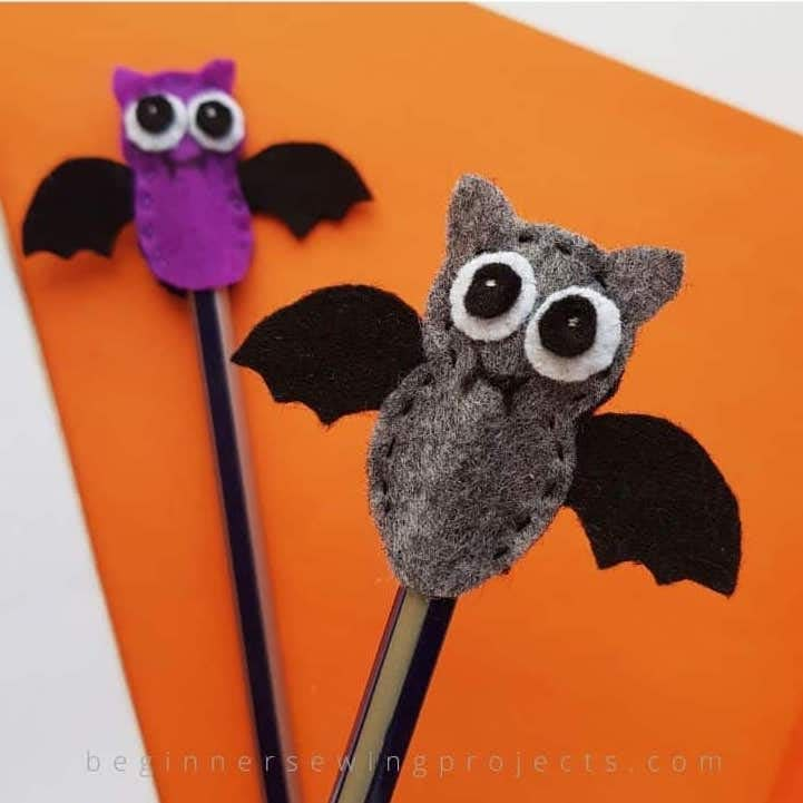 Halloween Pencil Toppers - crafts for toddler Halloween