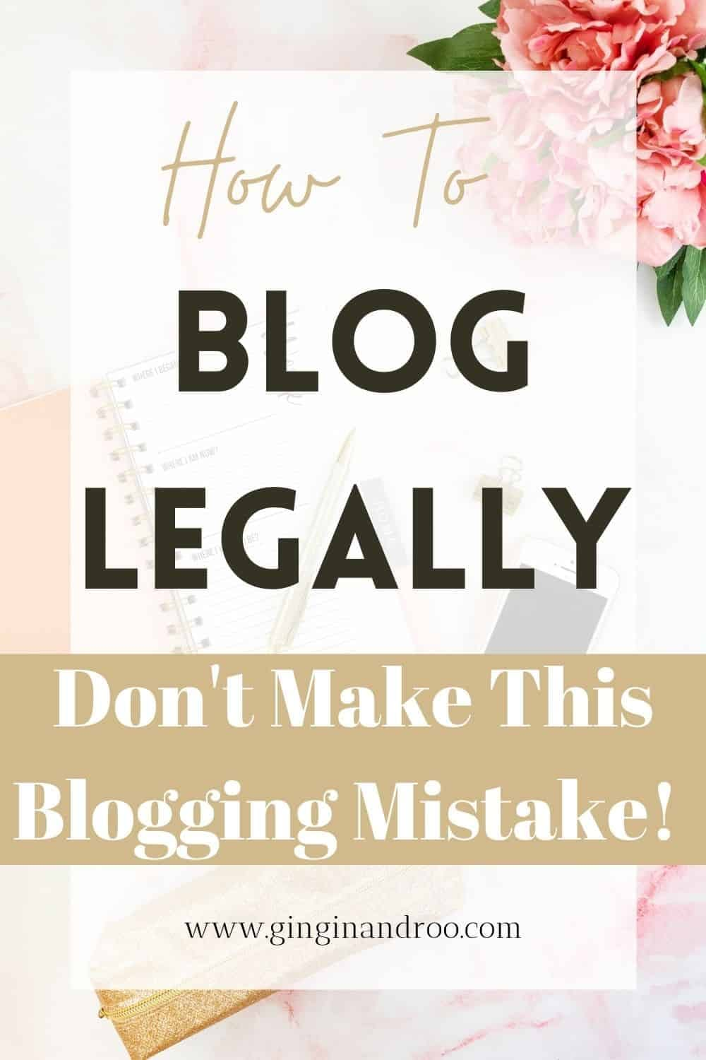 Make sure your blog is legal and compliant with the law. Read this to find out what 3 pages your blog absolutely has to have